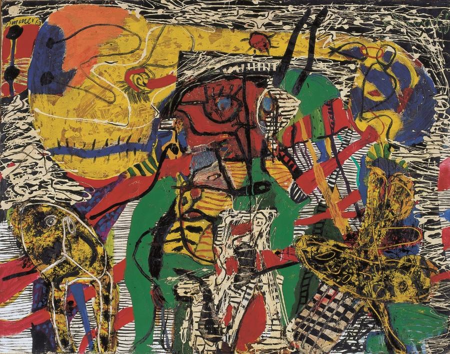 Ich-Schrumpfung, 1963 Oil on canvas 164 x 210 cm