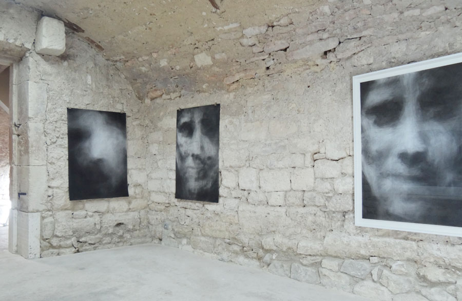 Bruno Albizzati Lol V. Stein Series, 2014 Graphite and charcoal powder on paper, 110 x 75 cm each
