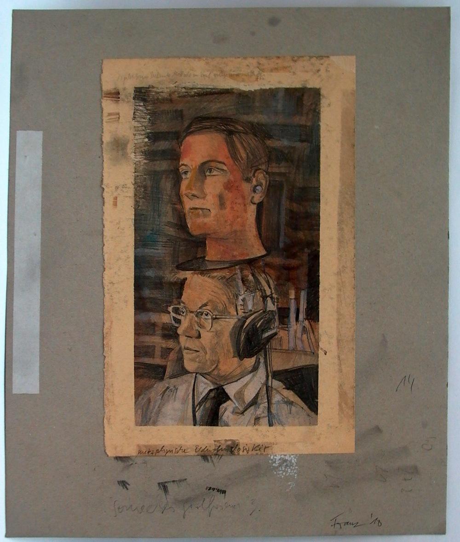 Metaphysische Bedürfnislosigkeit, 2010 Pencial and gouache on paper 40 x 33 cm