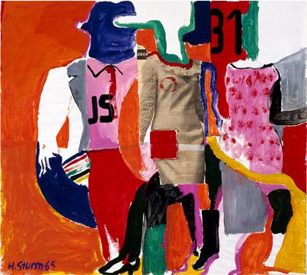 Helmut Sturm Untitled, 1965 Oil on Paper, 54 x 61 cm Privatbesitz, München © VG Bild-Kunst, Bonn 2014 Foto: Andreas Pauly