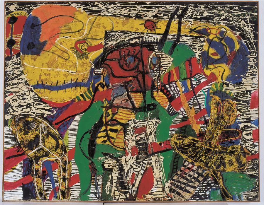 HP Zimmer  Ich-Schrumpfung , 1961 Oil on canvas 210 x 164 cm