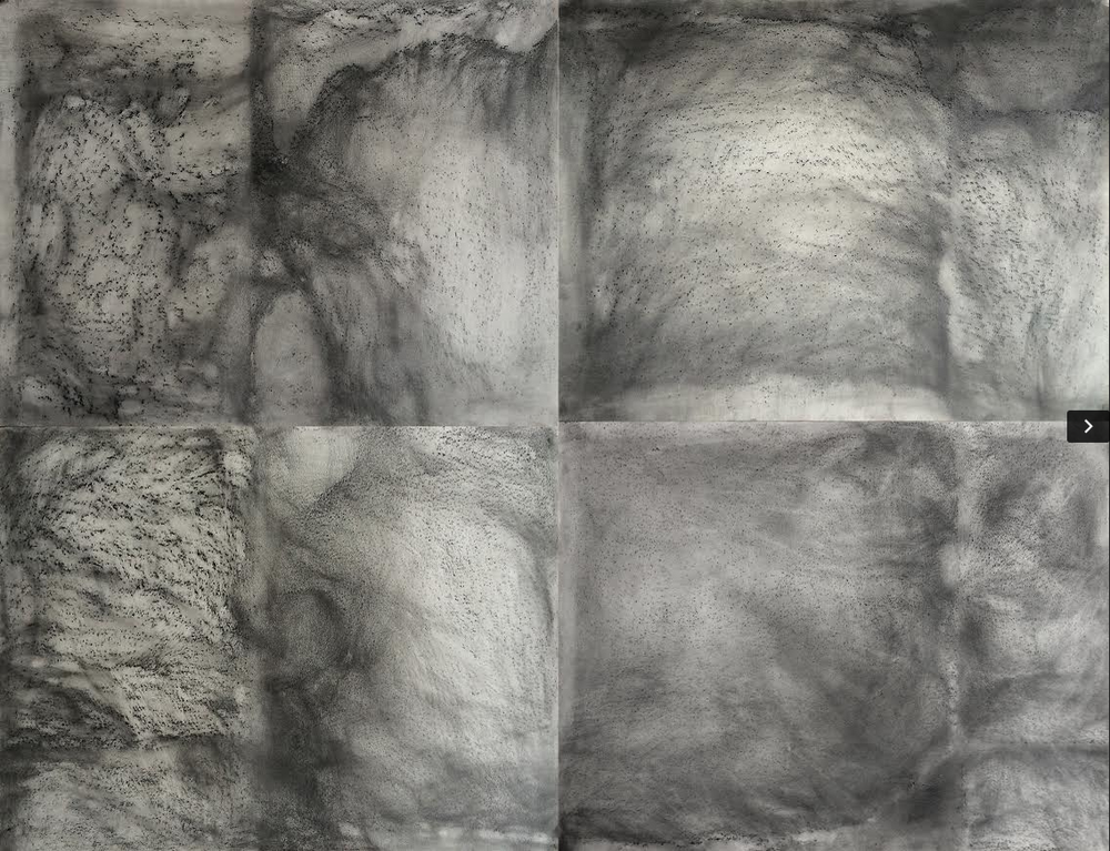 Bruno Albizzati Untitled, 2015 Charcoal and graphite on paper 100 x 130 cm