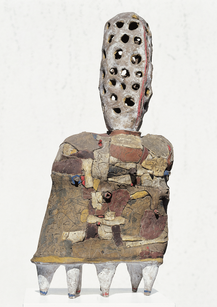 Lothar Fischer Orpheus, 1961 Bruned clay, painted 84 x 39 x 20 cm