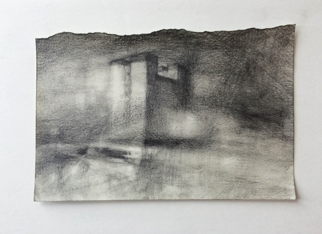 Untitled (  Range of Void #5)  , 2014   Graphite p  encil on paper   13,5 x 21 cm