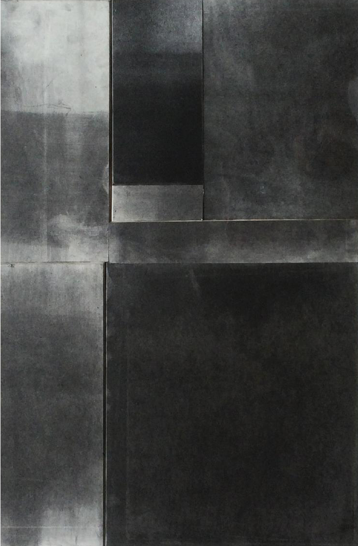 Untitled, 2015 Charcoal powder and black pigment on cardboard 59 x 39 cm