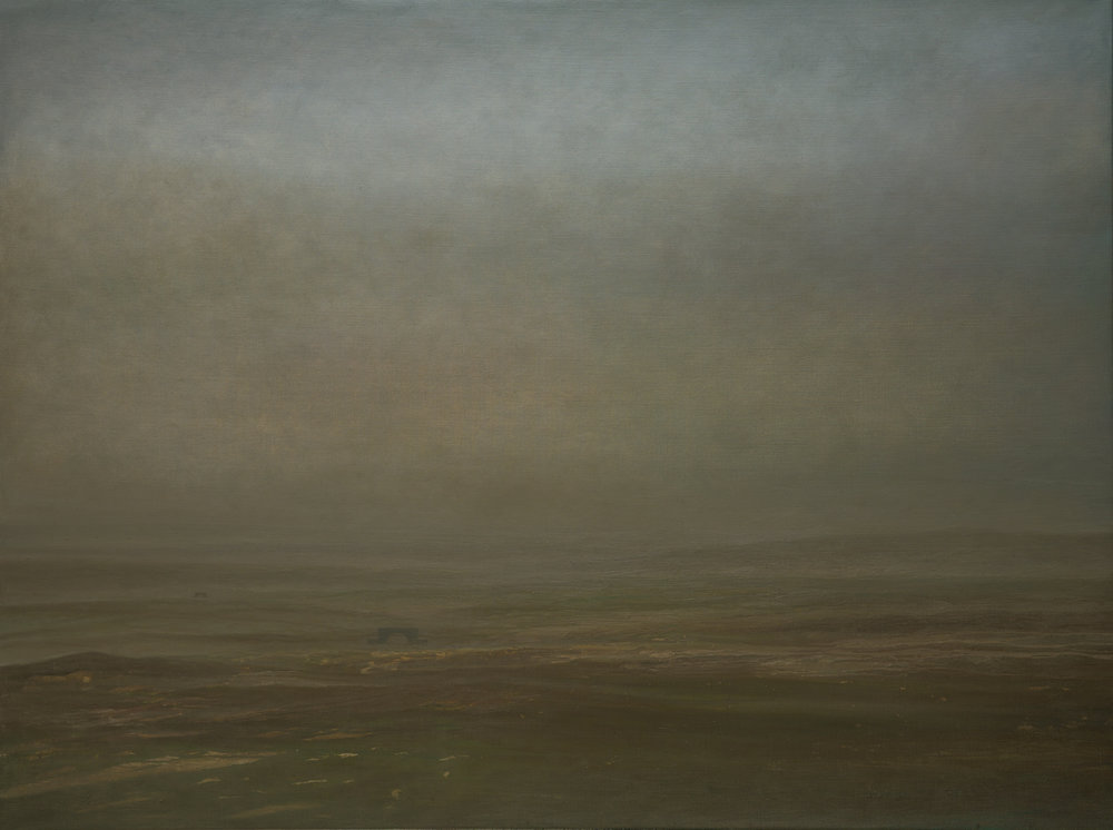 Untitled (The spring of Mongolian gobi), 2016 Oil on canvas 100 x 200 cm
