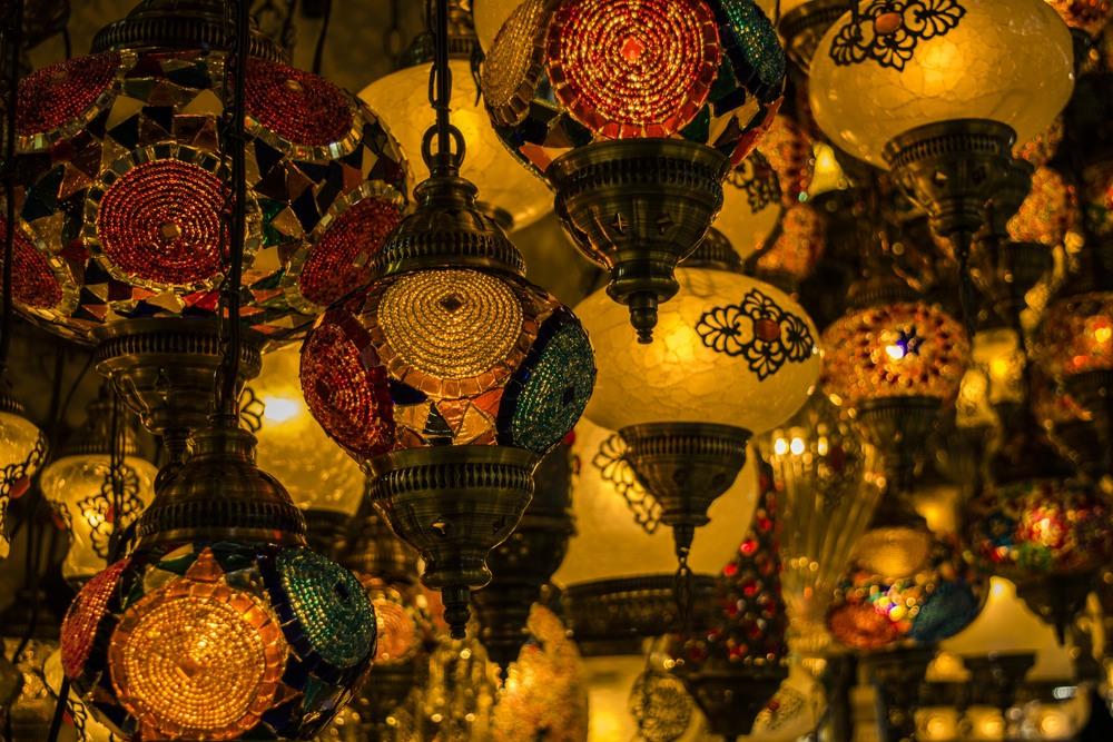 Turkish Colored Glass Lanterns