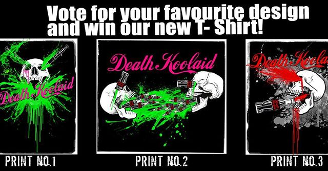Vote for your favourite design and be in with a chance to win our new T-Shirt when we launch our crowdfunding campaign in two weeks! Head to our Facebook to vote.  #punk #metal #music #livemusic #loud #scream #london #gig #singer #rock #punkrock #moshpit #guitars #drums #vocals  #industrial #festival #rockandroll #band #goth #scary #punkrocker #metalhead #alt  #concert #diy #digitalmusic #musicians #review #tour