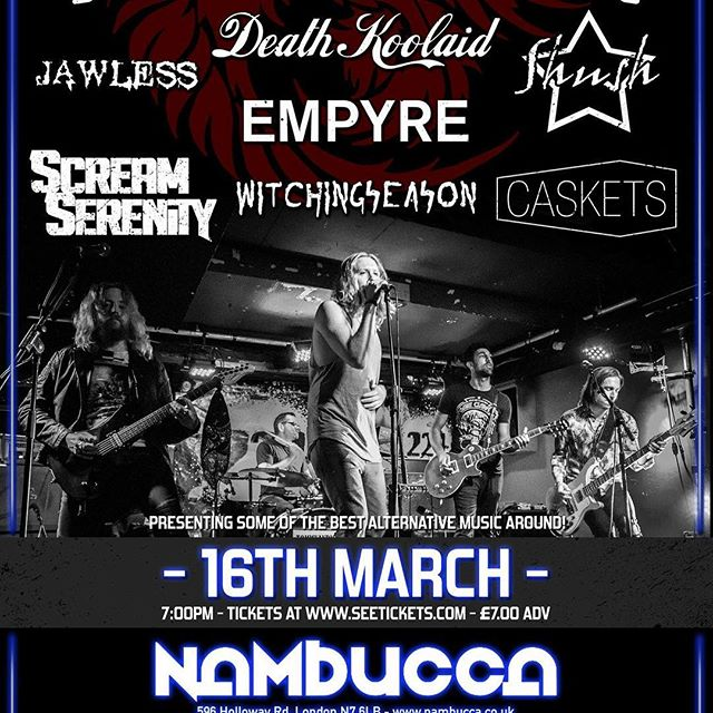 Who wants on the guest list for our Camden Rock show this Friday at Nambuca? Comment with your name and you're in @camdenrocksfest @nambuccalondon #punk #metal #music #livemusic #loud #scream #london #gig #singer #rock #punkrock #moshpit #guitars #drums #vocals  #industrial #festival #rockandroll #band #goth #scary #punkrocker #metalhead #alt  #concert #diy #digitalmusic #musicians #review #tour