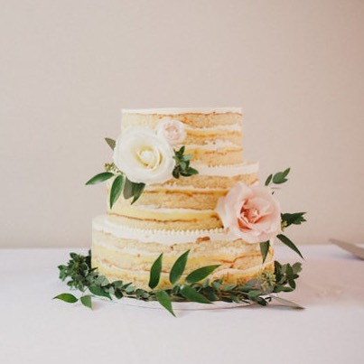 """It's a """"eat cake for breakfast"""" kinda day and we are dreaming of this @nutmegbakeshop naked cake. 🍰"""