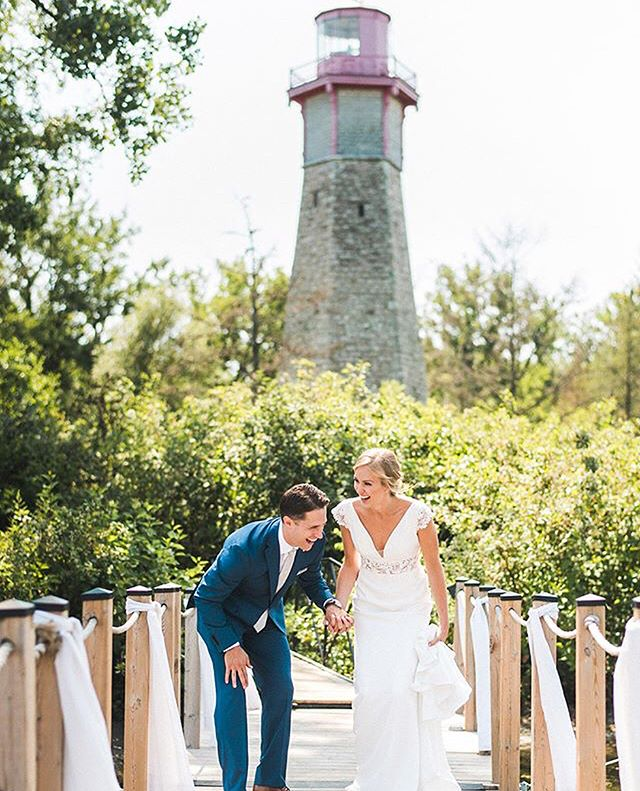 """These two said """"I do"""" on Toronto Island, a place that is close to their hearts, they could not stop smiling, and it was nothing short of pure magic. Thank you @samsterne & @dje_hughes for allowing us to be a part of your beat day ever! #teamsevan forever 💕⛵️⚓️ Photos by the talented @jeremiedupont"""