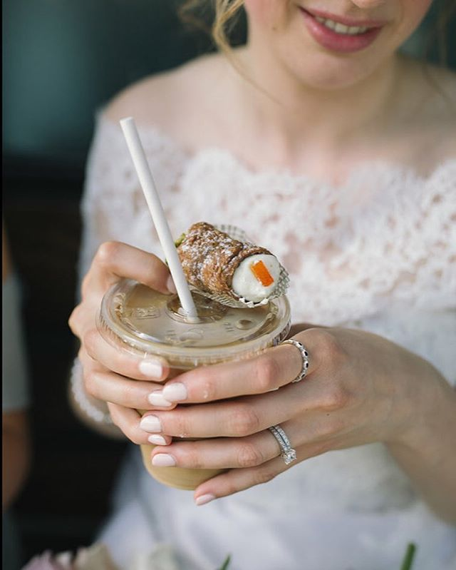 Summer sure is sweet ✨ We're sipping on iced coffee's al fresco and working on the final details for @anniekirbyg & Luis' wedding this beautiful long weekend.  Photo by @sweetheartempire On assignment for @wildeyed