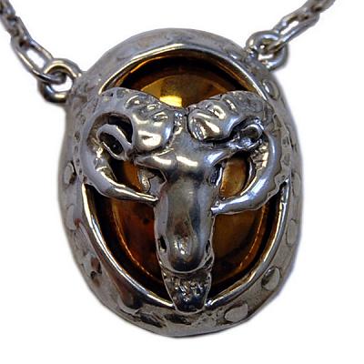 Goat Head Necklace - Bronze