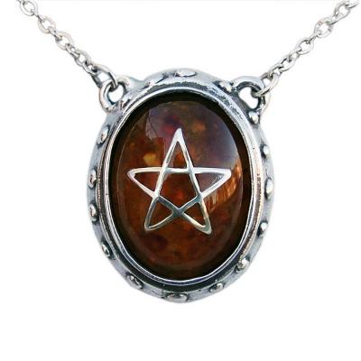 Angel Heart Pendant - Amber