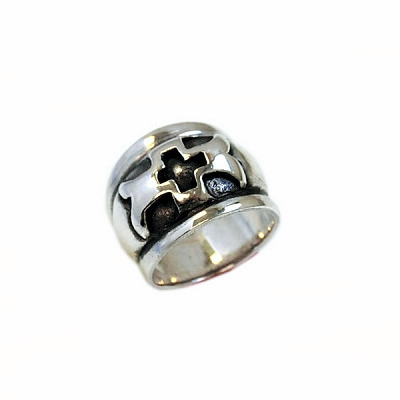 High Dome Cross Ring