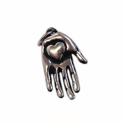 Hand Heart Charm