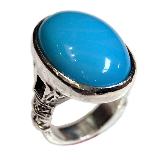 Oval Stone Column Ring