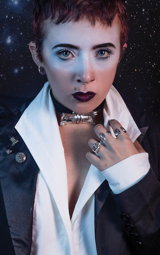 Space Bow Tie  Scout Ship Ring  Space Station Ring  Jet Stream Ring