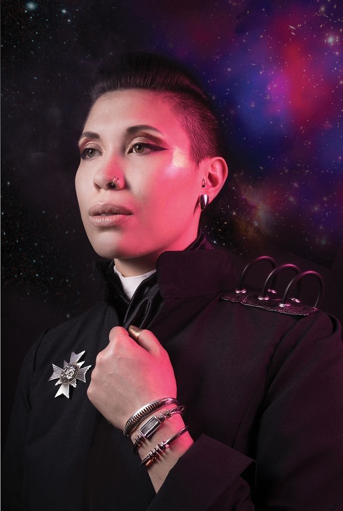 Space Bullet Earrings  Horizon Bangle  Sublimator Cuff  Wrist Vantilator Bangle