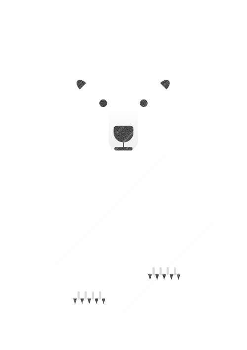 Polar Bear in a Blizzard