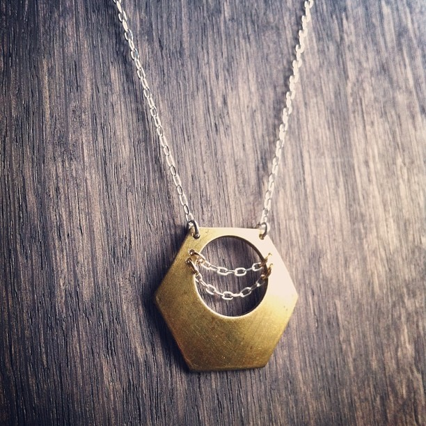 Sneak peek! New #FOj #necklace for #hfxcrafters. (also available, on brass chain, @makenew!)