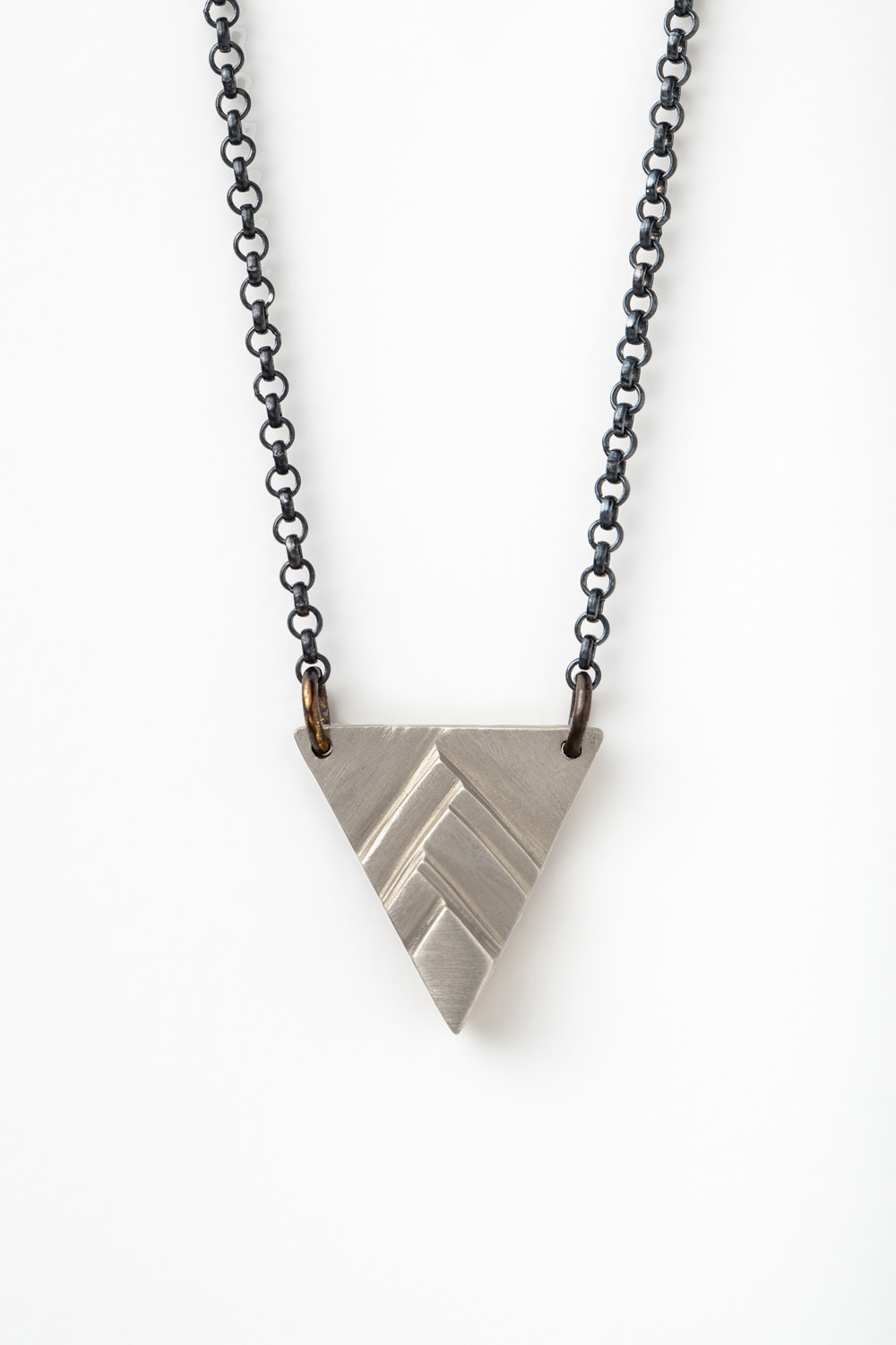Silver Pinnacle Necklace (oxidized chain)