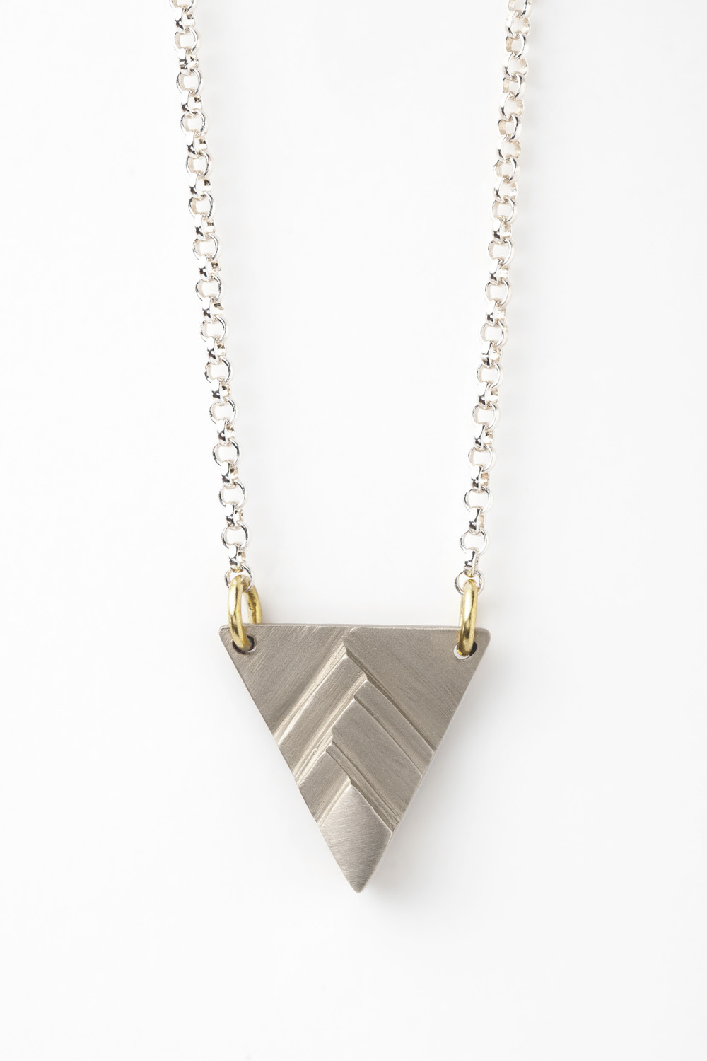 Silver Pinnacle Necklace (polished chain)