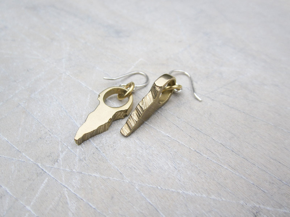 Bronze Guard Earrings