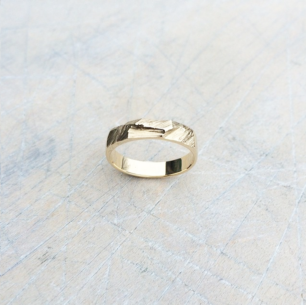 10K gold custom wedding ring.