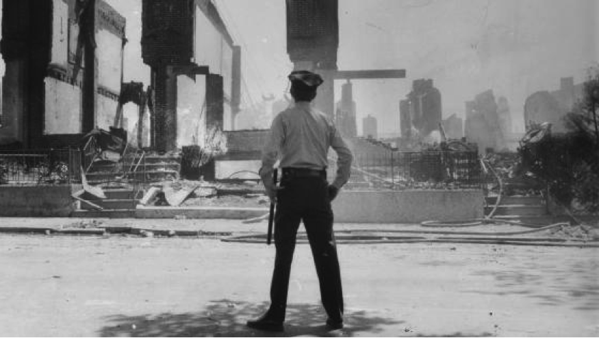 Ground Zero of the MOVE bombing, May 13, 1985