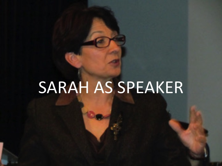 Sarah As Speaker