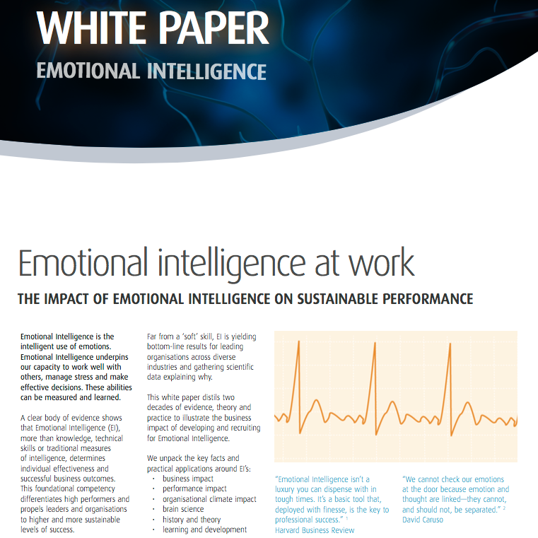 Emotional intelligence paper