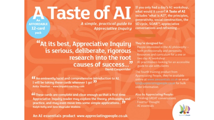 Appreciating People's flyer for their Taste Of AI cards