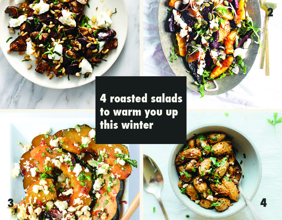 4 roasted salads to warm you up this winter via Print Em Shop