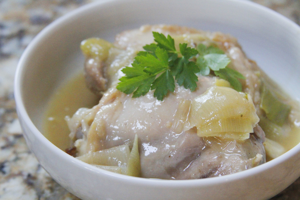 Braised chicken and leeks via Print (Em) Shop