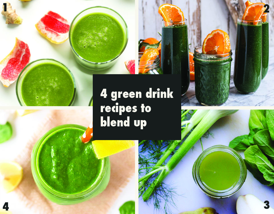 Green drinks to blend up via Print (Em) Shop
