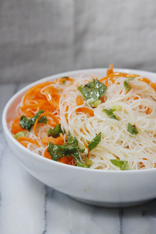 Rice noodle + carrot salad // Print (Em) Shop