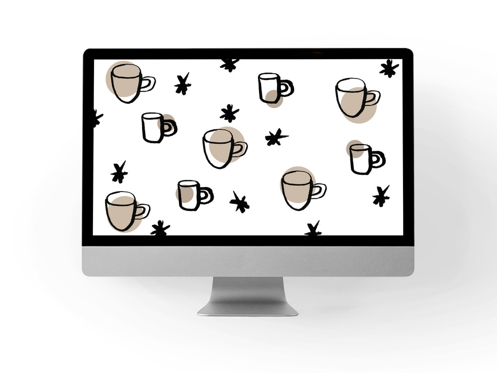 coffee + stars desktop backdrop // print (em) shop