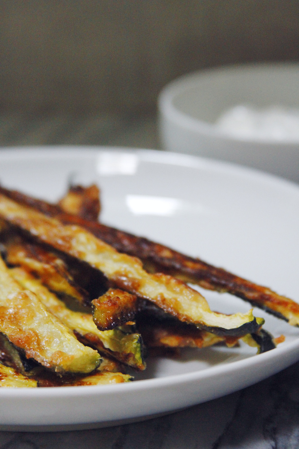 Crispy Zucchini Fries with Herbed Yogurt