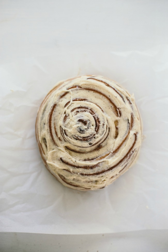 GIANT CINNAMON BUN WITH BROWN BUTTER ICING
