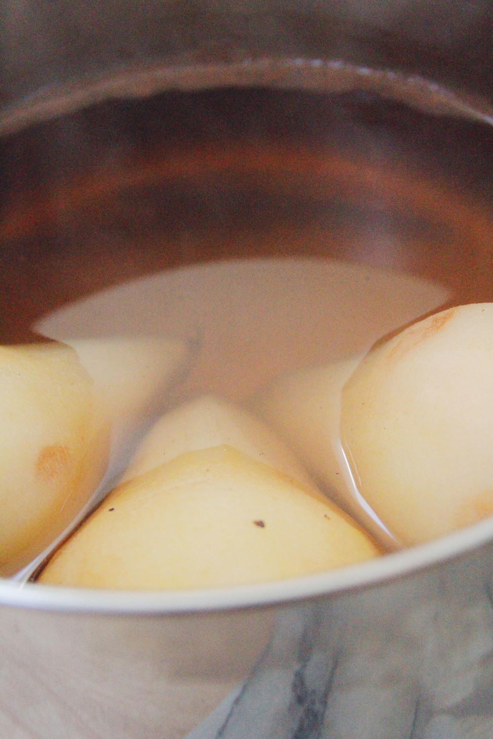 Chai poached pears // a little gathering