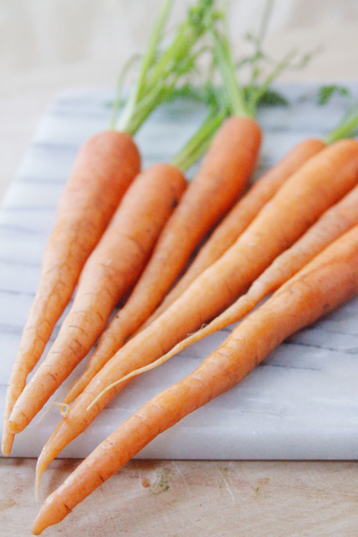 shaved carrots with avocado pesto