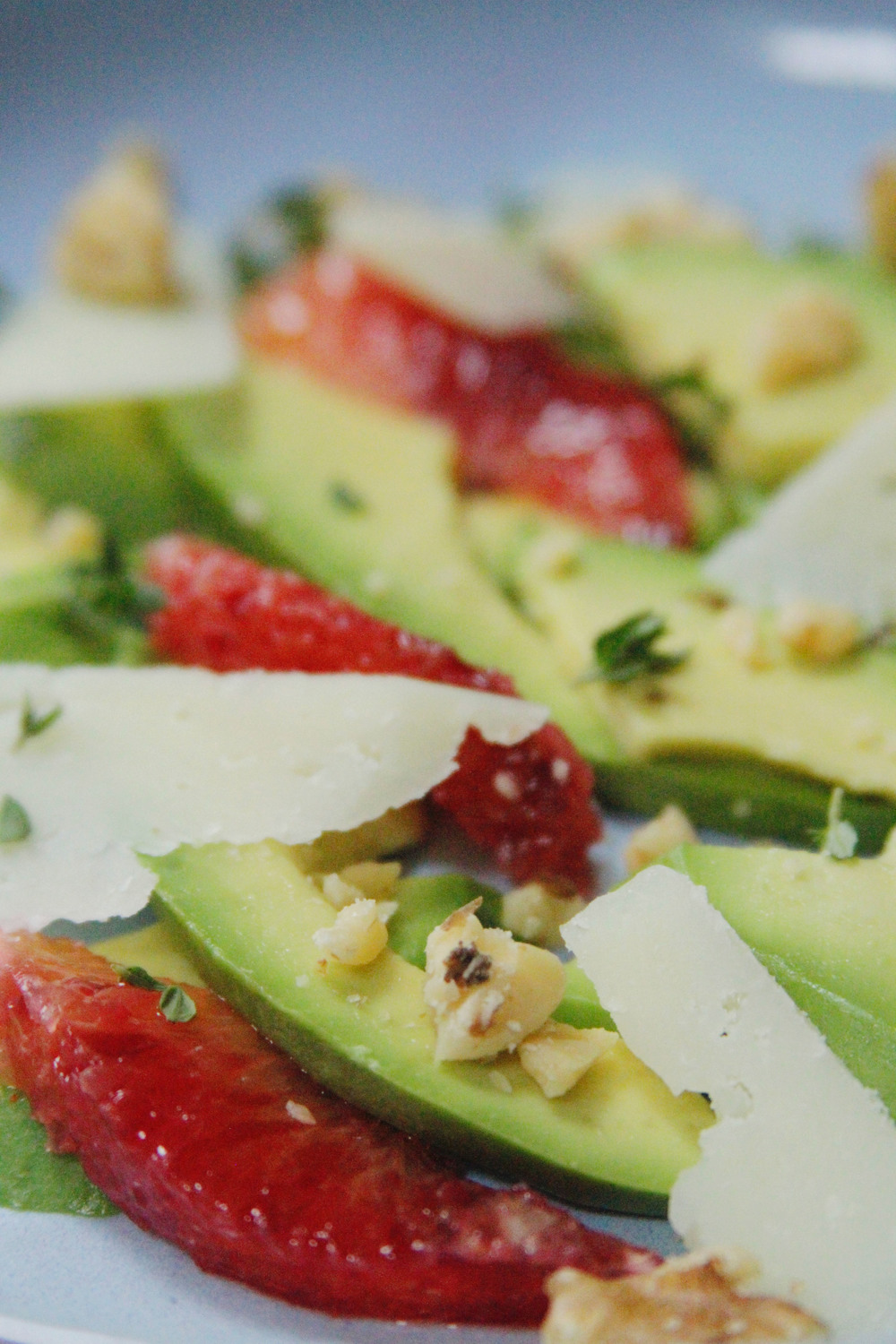 avocado + blood orange salad