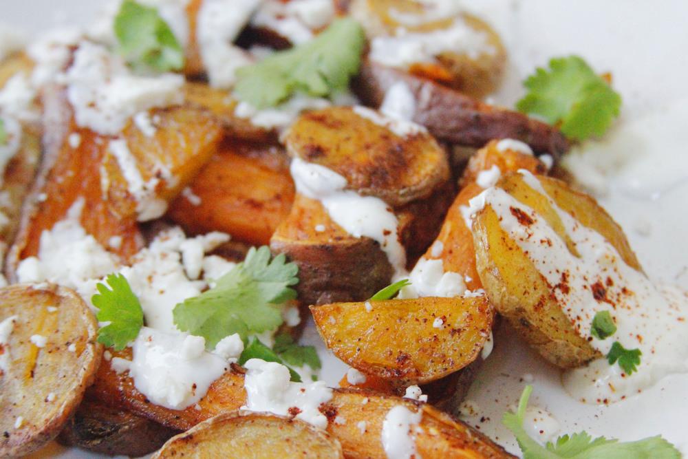Street corn-style roasted poatoes