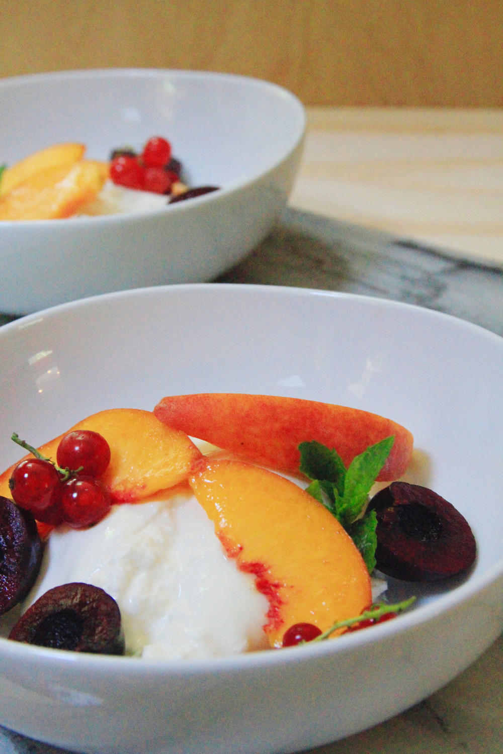 stone fruit burrata