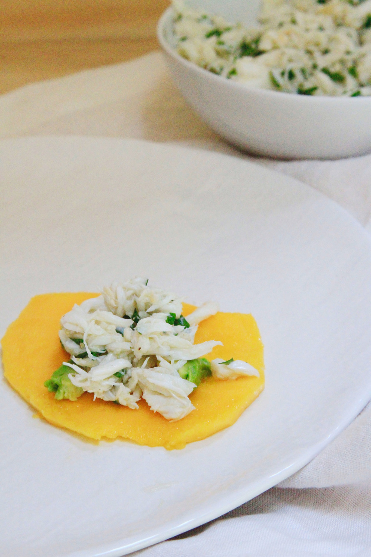 crab mango wraps