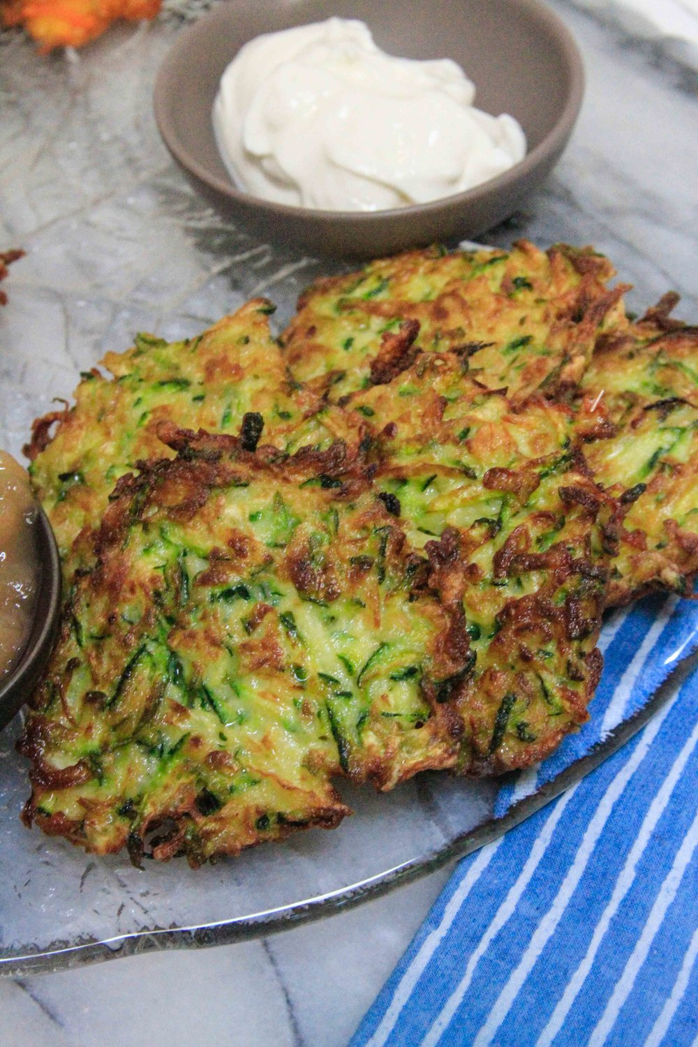 Make your own latke party - zuchini pancakes