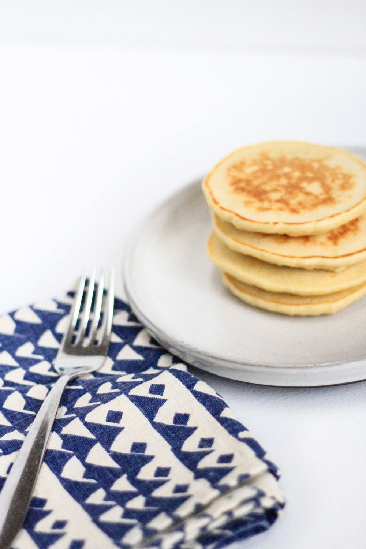 Roasted blueberry pancakes