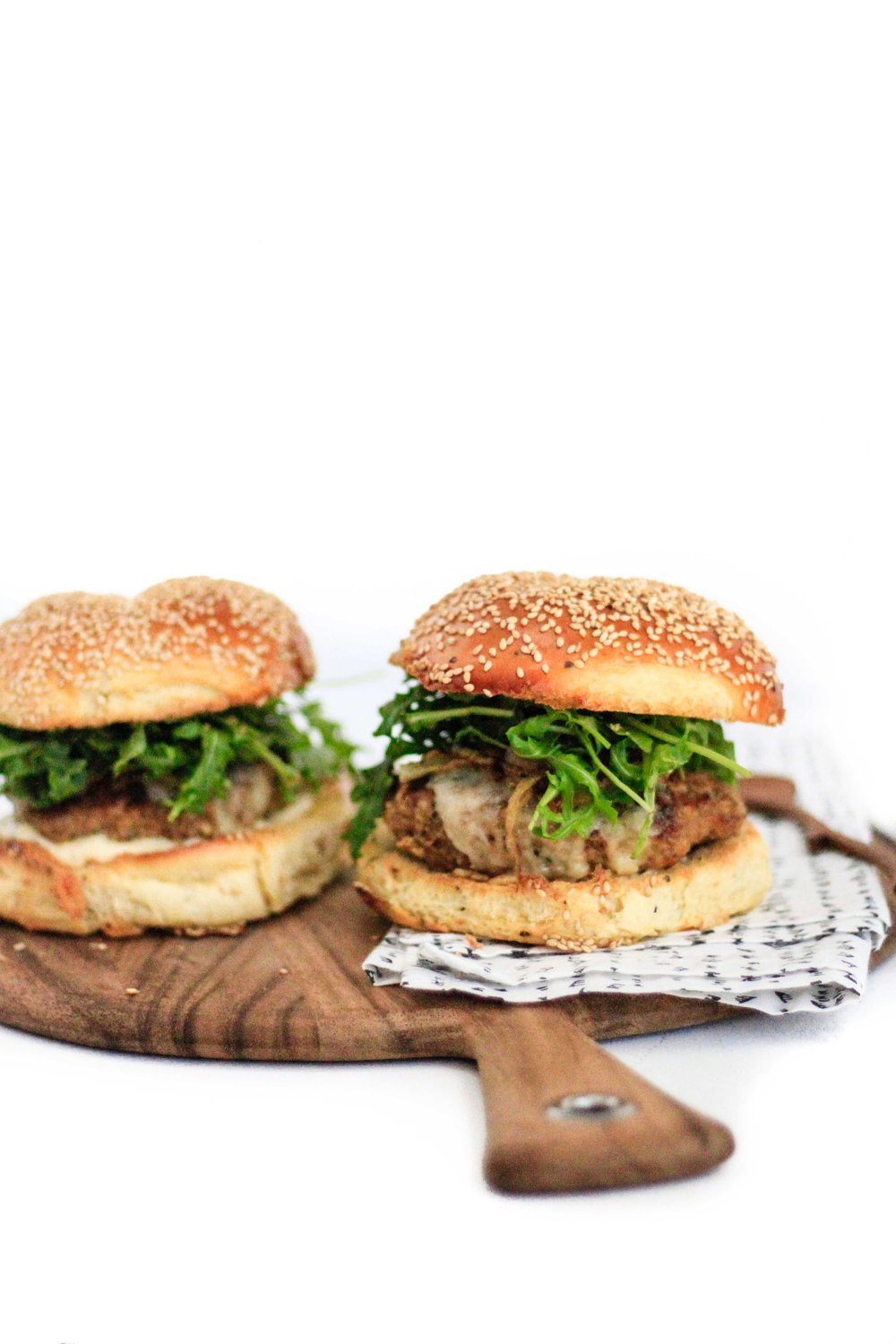 caramelized onion turkey burger
