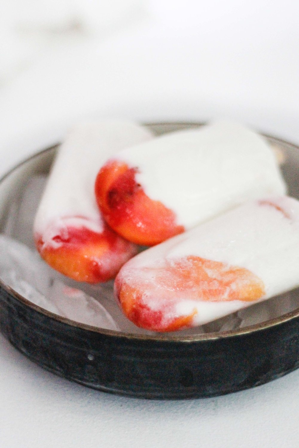 Peachy Yogurt Popsicles